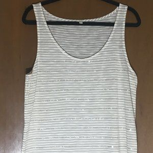 J Crew Champagne/Beige/Ivory Sequin Tank Top Shell